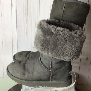 UGG Gray Tall Classic Boots Size 8
